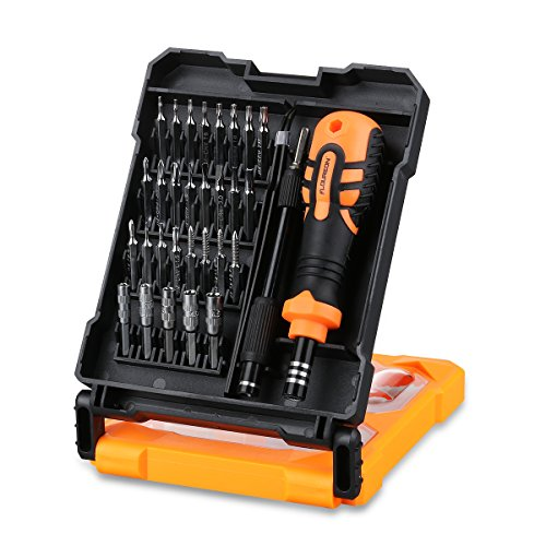 FLOUREON Repair Tool Kit Screwdriver Bits Magnetic 33-in-1 Precision Screwdriver Set for iPad, iPhone, Smartphone, Watches, Televisions,Laptops, Tablet, PC, Computer Electronic Devices
