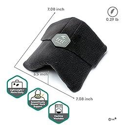 Trtl Soft Neck Support Travel Pillow, Machine Washable - Black