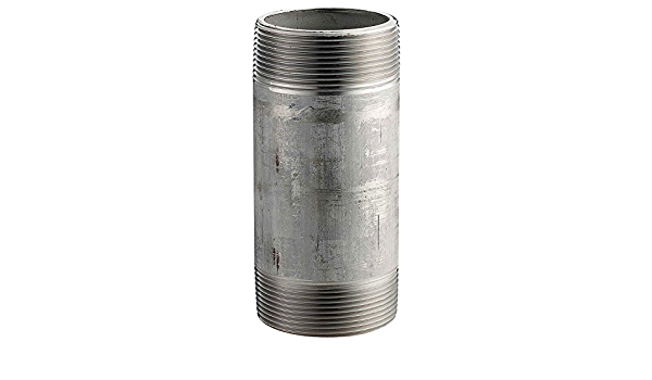 304 Stainless Steel Pipe Nipple X 1-3//4 In 16168 PSI 40 Sch 1-1//2 In