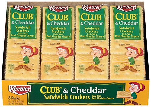 Keebler Cracker Sandwiches to Go - Club & Cheddar - 1.38 oz - 8 ct - 2 Pack by Keebler