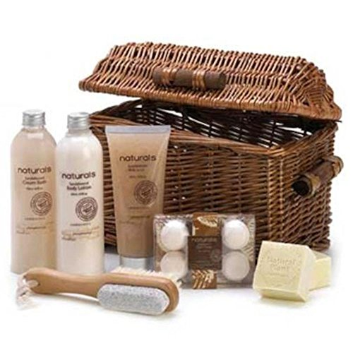 Sandalwood Naturals Spa Basket (Wicker Basket Gift Box compare prices)