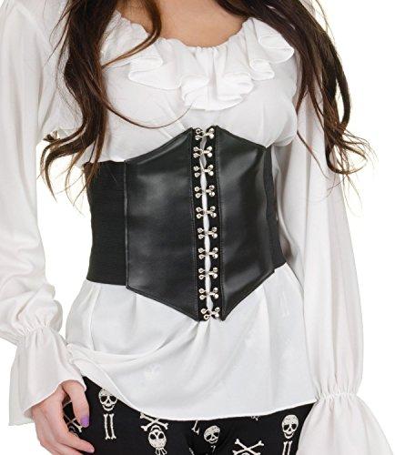 Underwraps Women's Waist Cincher Belt, Black, One Size (Middle Ages Costumes)