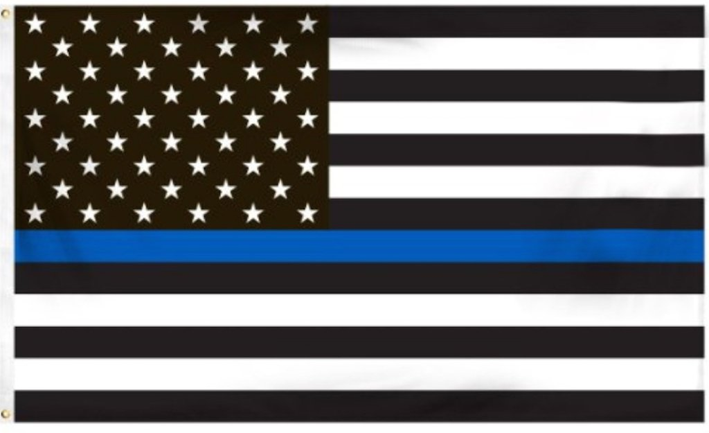 Amazon Thin Blue Line American Flag 3 By 5 Foot Flag