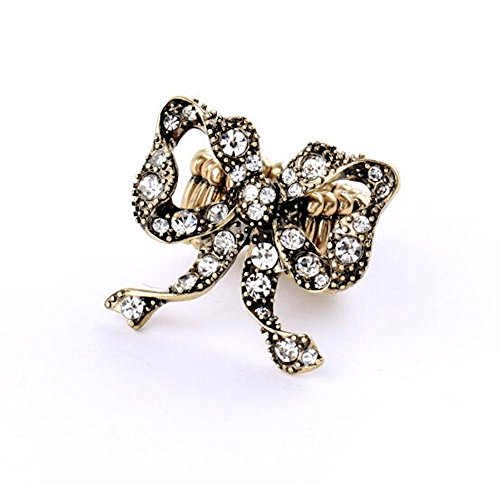 Bling Antique Ribbon Statement Ring (Expandable) - 0.75