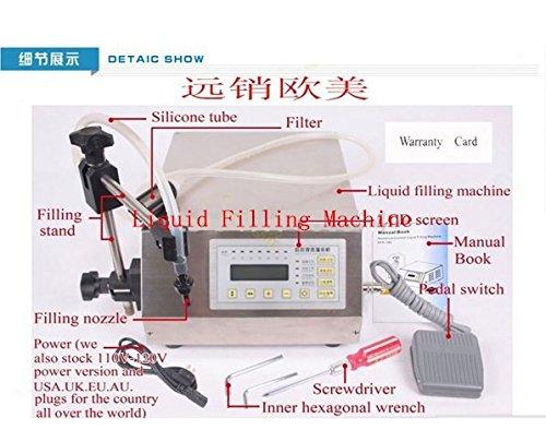 GOWE Digital Control Pump Drink Water Liquid Filling Machine 5-3500ml 0