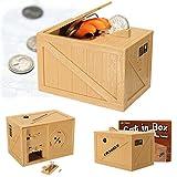 auto count bank - Children Kid Novelty Creative Electricity Piggy Bank Cat Paw Auto Steal Money Coin Saving Storage Box Pot Case