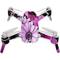Skin For Yuneec Breeze 4K Drone – Purple Flowers | MightySkins Protective, Durable, and Unique Vinyl Decal wrap cover | Easy To Apply, Remove, and Change Styles | Made in the USA