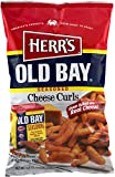 Herr's Old Bay Seasoned Cheese Curls 8.5 oz. Bag (4 Bags) - Made with a Traditional Old Bay Recipe - Delicious Seasoning - Oven Baked