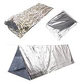 Emergency Survival Mylar Thermal Sleeping Bag – 3 FT x 7 FT 36″x84″, 2 Sleeping Bags in One Box, Each Sleeping Bag in One Carry Bag