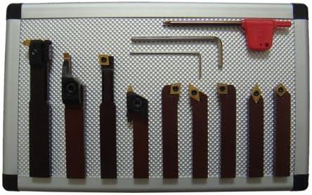 PAULIMOT Drehmeißel-Set mit Wendeplatten, 6 mm, 9-teilig