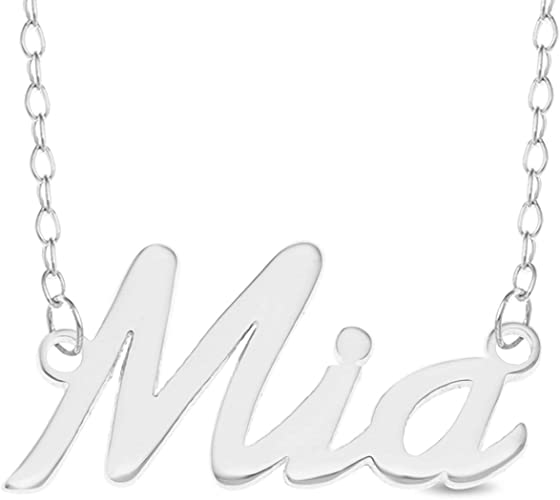925 Sterling Silver MIA Name Necklace Womens Girls Pendant Gift Ready Stock
