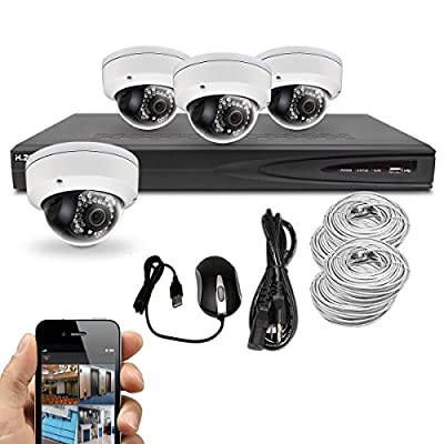 Best Vision Systems 8CH 2TB IP NVR Security Surveillance System with (4) 4MP PoE Outdoor Vandalproof Dome Cameras – Hikvision OEM