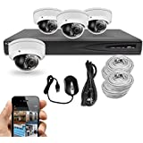 Best Vision Systems 8CH 2TB IP NVR Security Surveillance System with (4) 4MP PoE Outdoor Vandalproof Dome Cameras