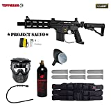 MAddog Tippmann U.S. Army Project Salvo Titanium Paintball Gun Package – Black Review