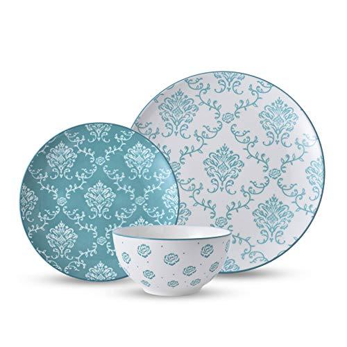 Original Heart Dinnerware Sets Ceramic Dish Set 12pcs Dinnerware Set Plates and Bowls Sets Nonstick Plate Set Dishes Set…