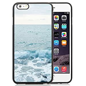 Beautiful Unique Designed iPhone 6 Plus 5.5 Inch Phone Case With Ocean Shore Waves In Winter_Black Phone Case