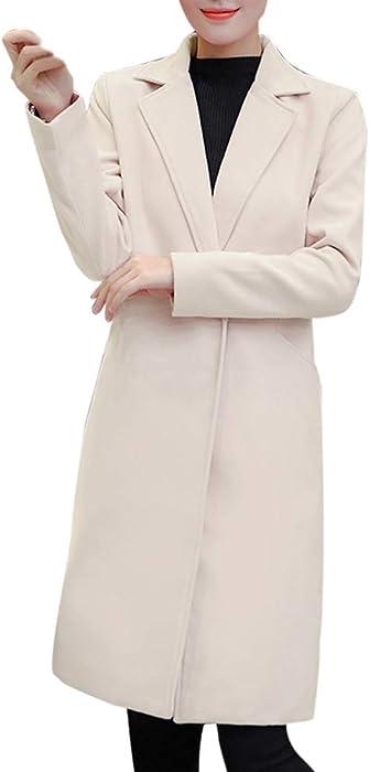 ZODOF Abrigo de Invierno,Abrigo de Lana de Solapa de Invierno para Mujer Trench Jacket Abrigo Largo de Parka Outwear