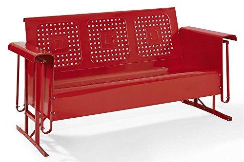 (Crosley Furniture Bates Sofa Glider - Red )