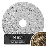 Ekena Millwork CM19SPBRS Spring Leaf Ceiling Medallion, 19 7/8'' OD x 3 5/8'' ID x 1 1/4'' P, Brass