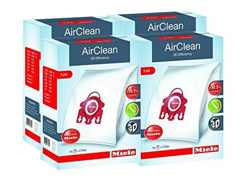 Miele Type F/J/M AirClean FilterBags, 4