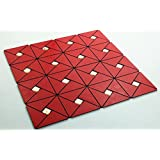 10.76 sq ft Chinese Red Peel and Stick Backsplash Wild Strawberry Metal Decorative Tile for Kitchen Wall- LSLCB12 (Box of 11PCS)