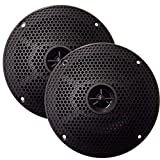 Seaworthy SEA5582B SeaWorthy SEA5582B 5'' Round 2-Way Speakers - 75W - Black *Bulk Package*