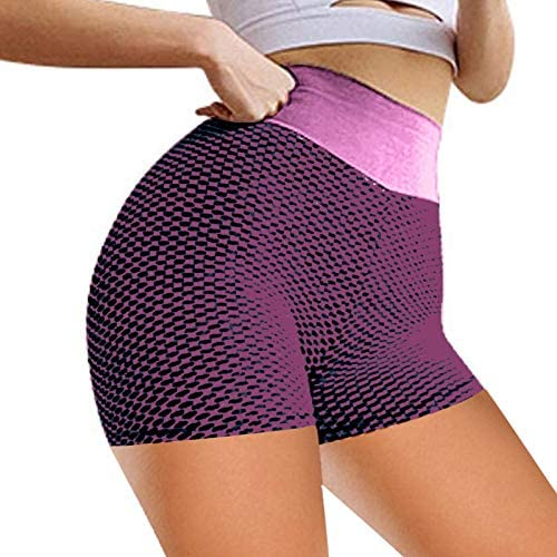 Five-Point Pants, Peach Hip Shorts, Fitness Yoga Pants, High Waist Jacquard Honeycomb Bubble Leggings, Fitness Pants (OPP)