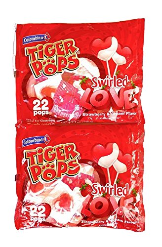 Swirled Love Heart Shaped Tiger Pops - 2 Bags