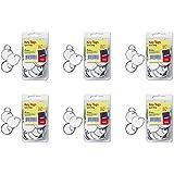 Avery Metal Rim Key Tags, Card Stock/Metal, White, 50 per Pack (11025), 6 Packs