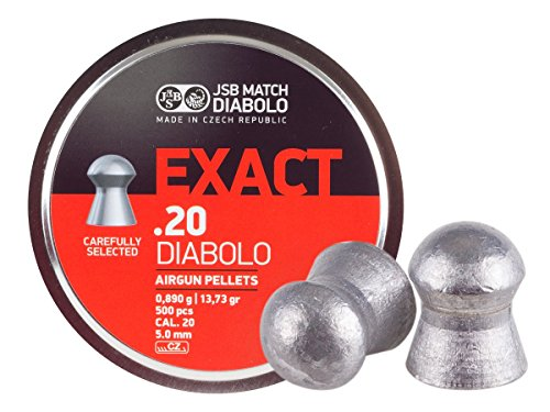 JSB Diabolo Exact .20 Cal, 13.73 Grains, Domed, 500ct by JSB