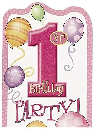 Las niñas primera - fiesta de cumpleaños invitaciones ...