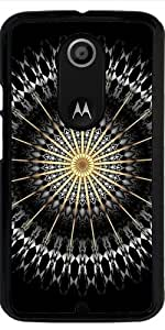Funda para Motorola Moto X (Génération 2) - Negro Blanco Mandala De Oro by Nina Baydur