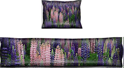 Luxlady Mouse Wrist Rest and Keyboard Pad Set, 2pc Wrist Support IMAGE ID: 29578662 Thousands of colorful wild flowers blooming in Newfoundland (Newfoundland Flowers)