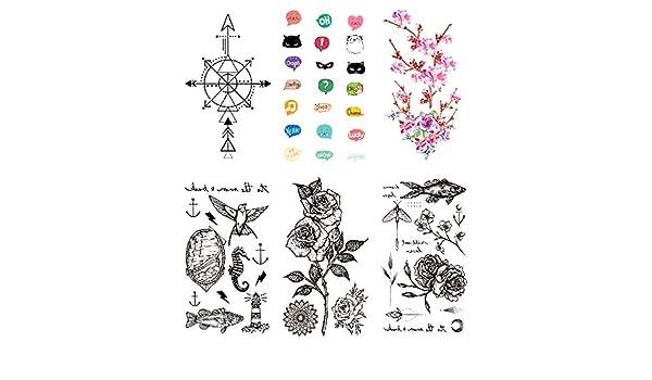 Oottati 6 Hojas Pequeño Lindo Tatuaje Temporal Tattoo Triángulo De ...