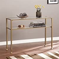 Pemberly Row Console Table in Matte Gold