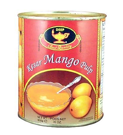 Deep Kesar Mango Pulp 30 oz: Amazon.com: Grocery & Gourmet Food