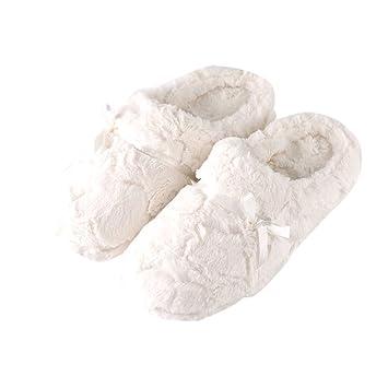 Tofern Pantoufles Chaussons Fourure Doublée Ultra Thermique Ergonomique Semelle Antidérapant Hiver Adulte Femme Enfant Fille 7ayMd