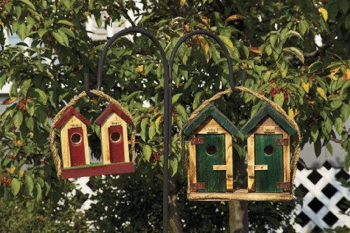 - Birdhouse - His and Hers Outhouse Birdhouse - Large Amish Handmade Matching Large His and Hers Outhouse Country Birdhouses: These Will Enhance Any Country Rustic Setting. These Wooden Birdhouses Will Fit Inside Your Home As Decor or on the Porch or in a Garden Landscape Where Small Birds Can Use Them for Nesting. Delight the Bird Lover with This Handmade Gift! Measures 5.5 X 12 X 11 (Green on Right in Photo) Small One on Left Not Included
