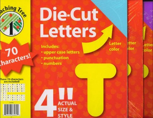 4-Inch Die Cut Letters (Various Colors and Fonts)
