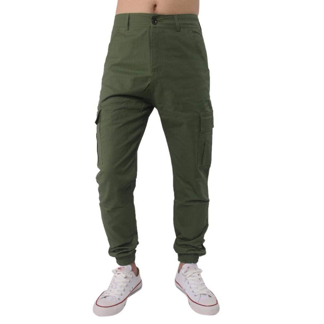 Realdo Hot!Clearance Sale, Men Trousers Harem Sweatpants Slacks Casual Jogger Pant Sportwear Comfy (29,Army Green)