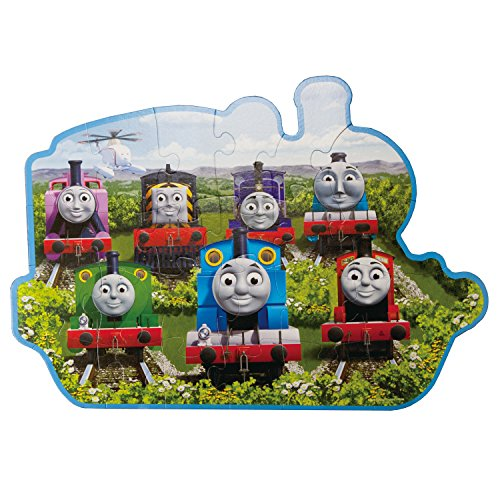 Ravensburger Thomas & Friends: Sodor Friends 24 Piece Shaped Floor Jigsaw Puzzle for Kids - Every Piece is Unique, Pieces Fit Together Perfectly ()