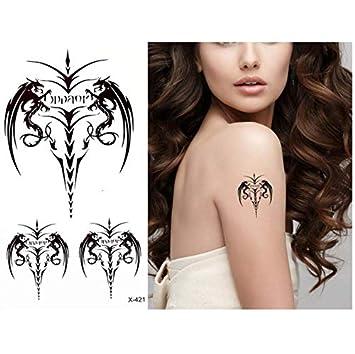 yyyDL Cuerpo temporal belleza maquillaje tatuaje ángel ala imagen ...
