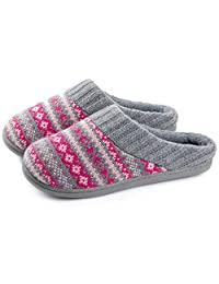 RockDove Sweater Knit Scuff Pantuflas For Women (7-8 B(M) US, Periwinkle)