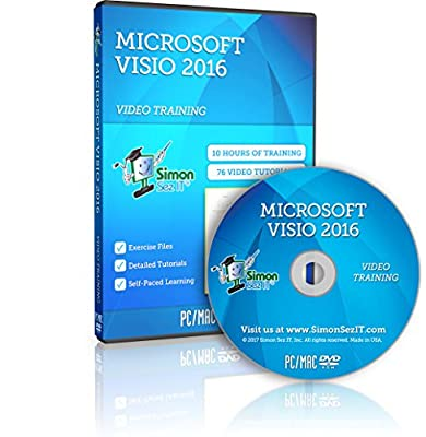 Microsoft Visio 2016 Training Course For Beginners – Complete Self-Paced Learning Program For The Microsoft Office Diagramming Software Application