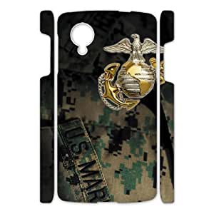 Canting_Good US Marine Corps Custom Case Shell Skin for Google Nexus 5 3D