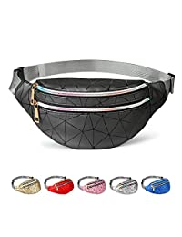 Fashion Fanny Packs for Women Men, Cute Fanny Pack for Kids Teens Girls Boys, Waterproof Waist Pack with Multi-Pockets Adjustable Belt, Casual Bag Bum Bags Hip Purse for Travel Festival Hiking Concert