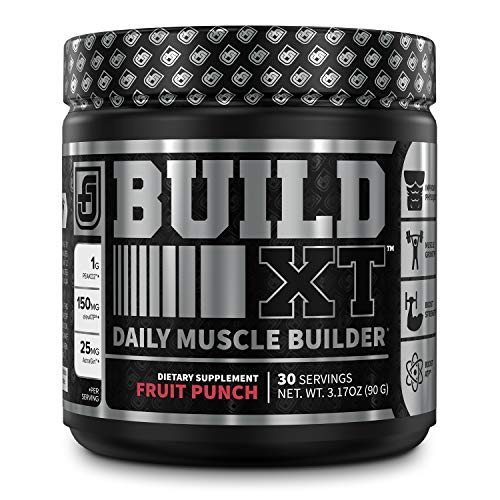 Build-XT Muscle Building Powder - Daily Muscle Builder Supplement for Muscle Growth, Strength, Endurance & Recovery | Featuring Powerful Science-Backed Ingredients Peak02 & elevATP - Fruit Punch, 30sv (The Best Muscle Building Supplement)