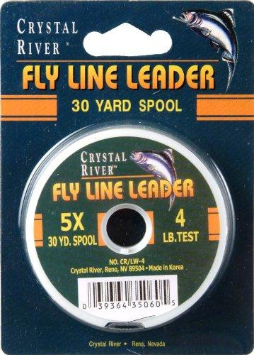 Crystal River Fly Line Leader 4 Lb (Line Fly River Crystal)