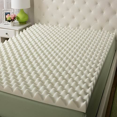 Vaunn Medical Egg Crate Convoluted Foam Mattress Pad - 3in Thick EggCrate Mattress Topper (Hospital Bed Twin Size) - Made in USA (Renewed)