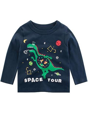 TIANRUN Dinosaur Print Tees Bady Boy Short Sleeve O Neck Patchwork Kids Short T Shirts
